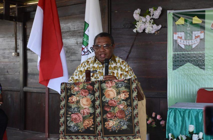 Wakil Bupati Bintuni, Membuka MUSKOMCAB Pemuda Katolik Merdey