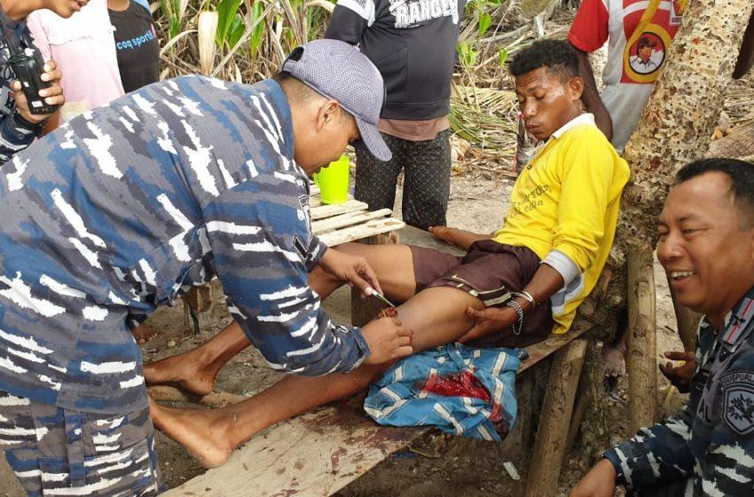 GUSPURLA KOARMADA III Beri Pertolongan Medis Nelayan Di Pulau Sabuda