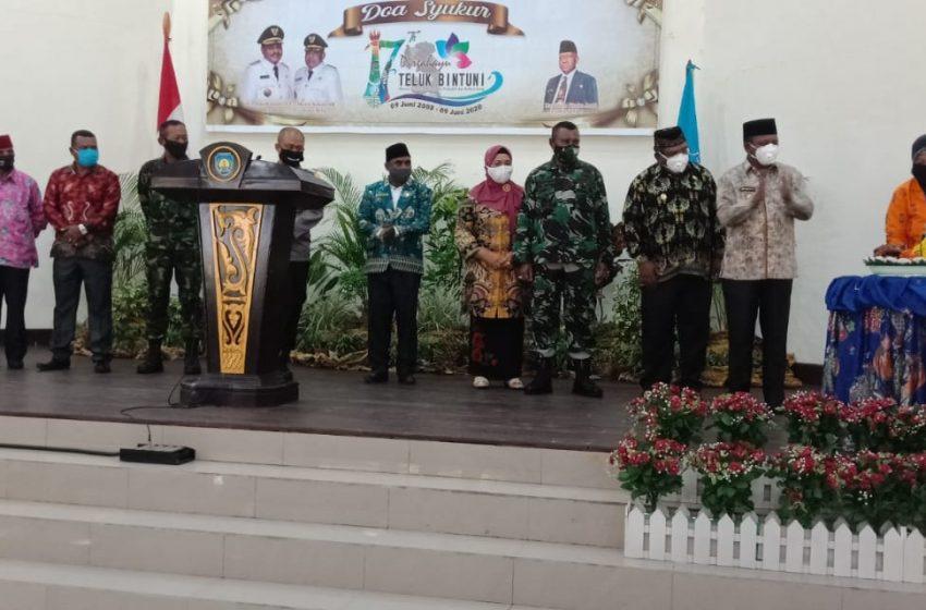 Ditengah Pandemi Covid- 19; Perayaan HUT Kabupaten Teluk Bintuni Ke-17 Berlansung Sederhana