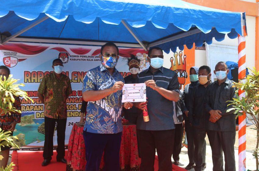 Balon Bupati Pasangan AFU-ORI, Resmi Ditetapkan Calon Tunggal  Pilkada R4 2020