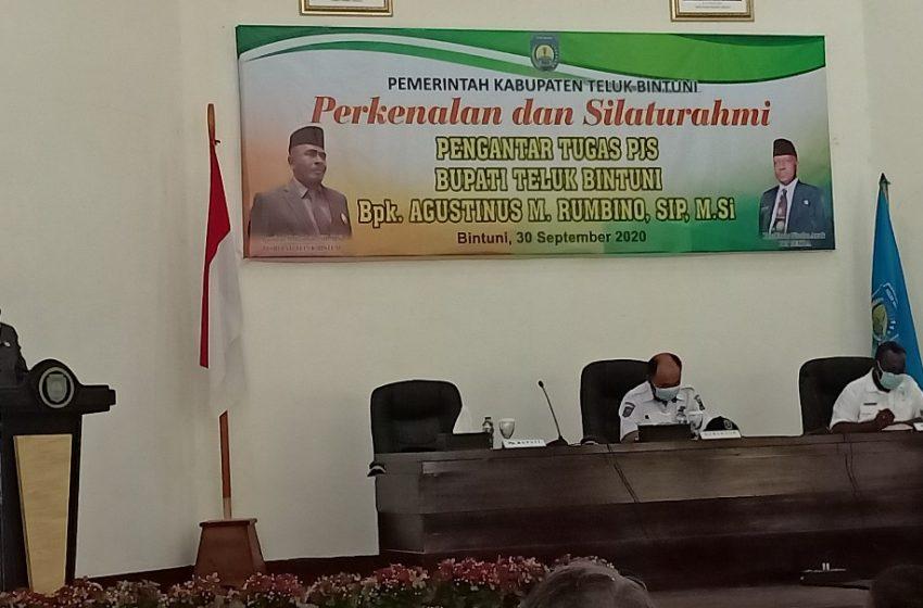 Perkenalan Dan Silaturahmi Bersama Seluruh Pejabat Lingkup Teluk Bintuni; 6 Tugas Utama PJS BUPATI