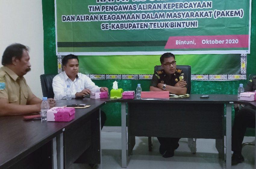 Rakor Tim Pakem Teluk Bintuni; Bahas Pengawasan Aliran Sesat Indonesia