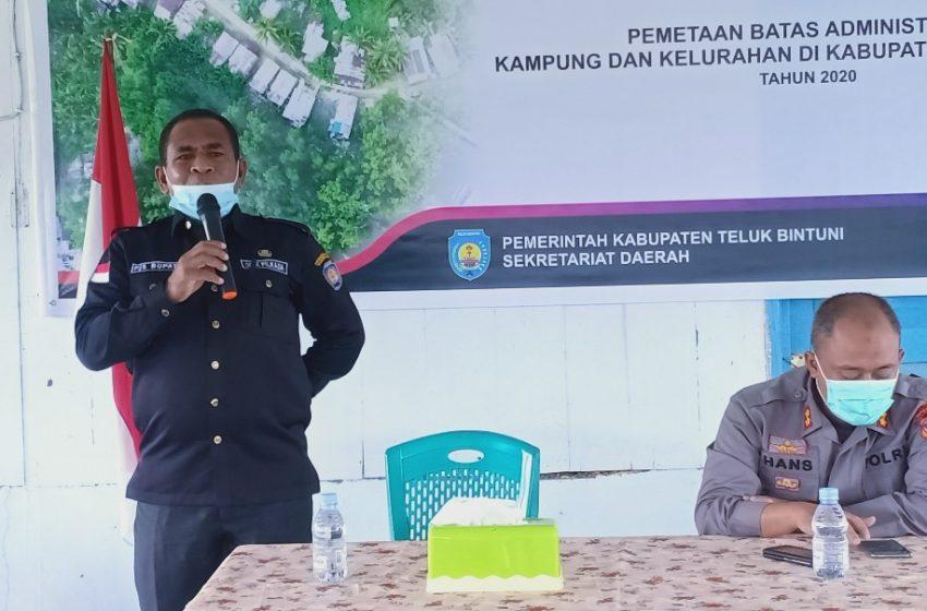 Kunker Ke-3 Distrik; PJS Bupati Bintuni Harap Masyarakat Ikut Serta Mensuksekkan Pemilukada 2020.