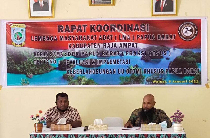 Tokoh Adat dan Kepala Suku Setujui Keberlangsungan Otsus Papua Barat