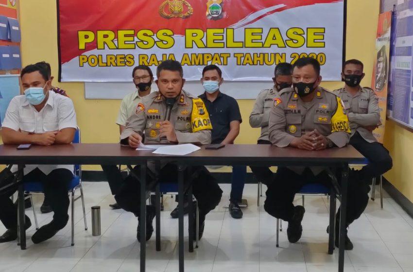 Selama Tahun 2020, Laporan Kasus Korupsi di Polres Raja Ampat Nihil