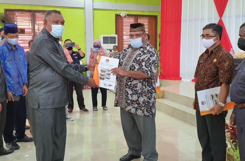 KPUD Gelar Rapat Pleno Terbuka Penetapan Pasangan Calon Terpilih Bupati dan Wakil Bupati Kabupaten Teluk Bintuni Pemilihan Serentak Tahun 2020