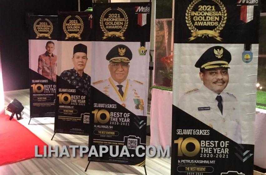 Di Tahun 2021 Bupati Teluk Bintuni Berhasil Meraih The Indonesia Golden Awards
